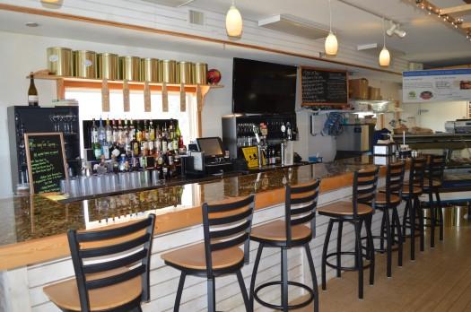 The bar at Coastal Provisions