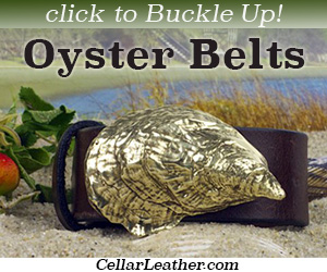 Buy handmade, custom oyster belts at CellarLeather.com