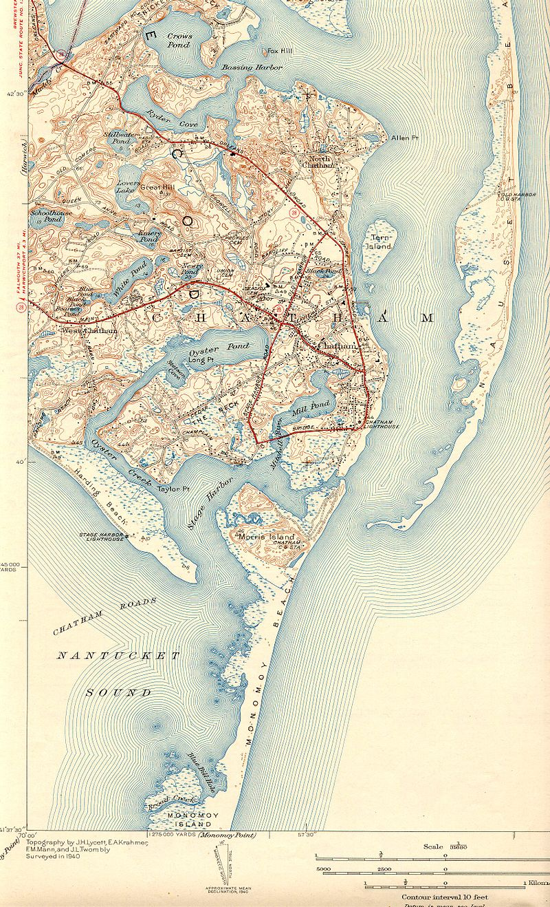 Oyster Pond map